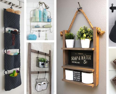 Badkamer hangende opbergruimtes