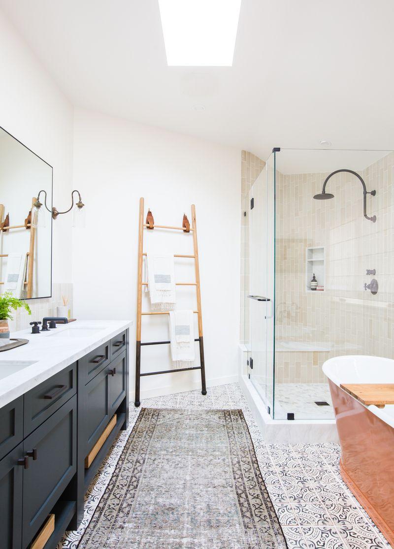 Badkamer met gemixte stijlen