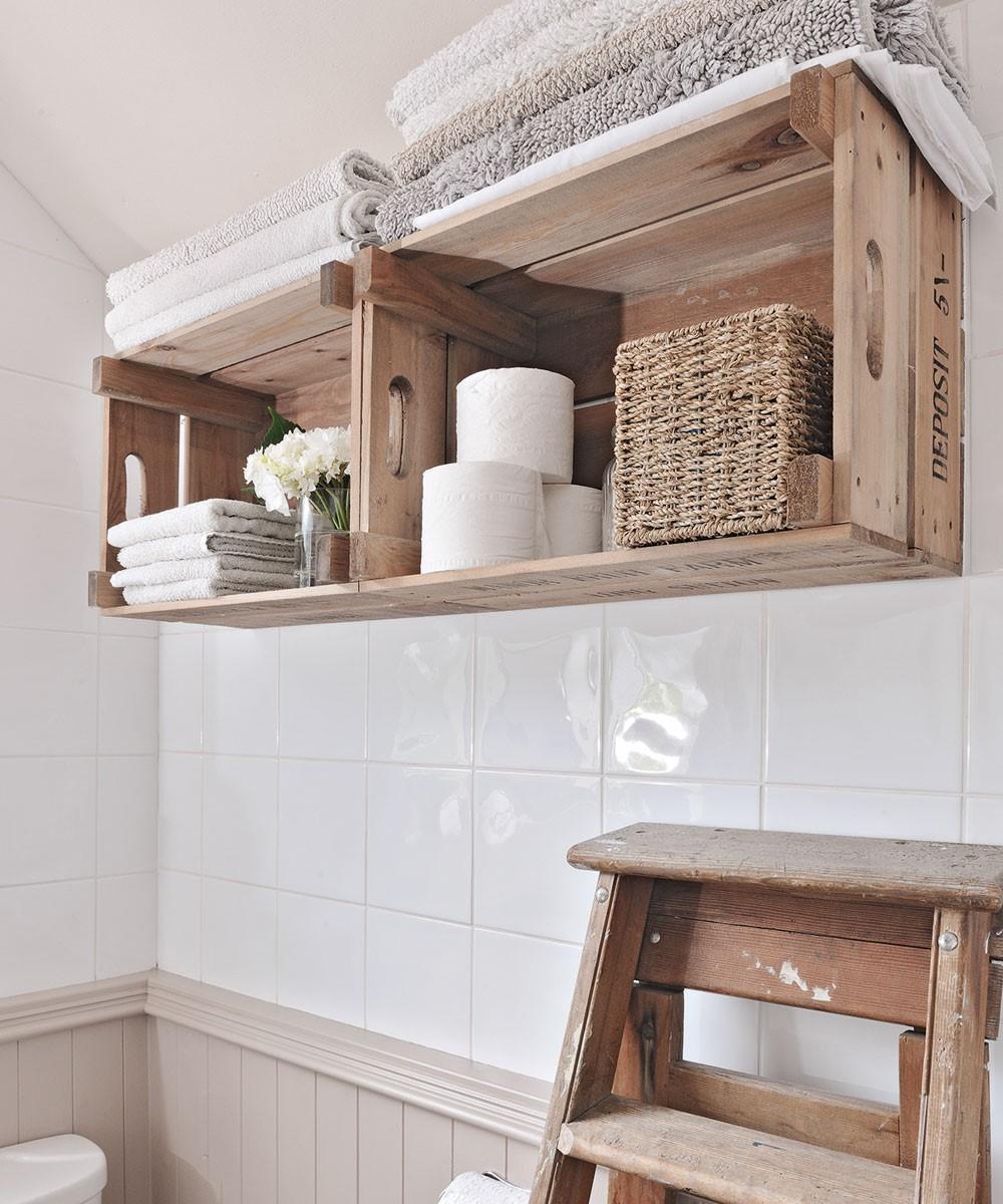 Badkamer met landelijke indeling