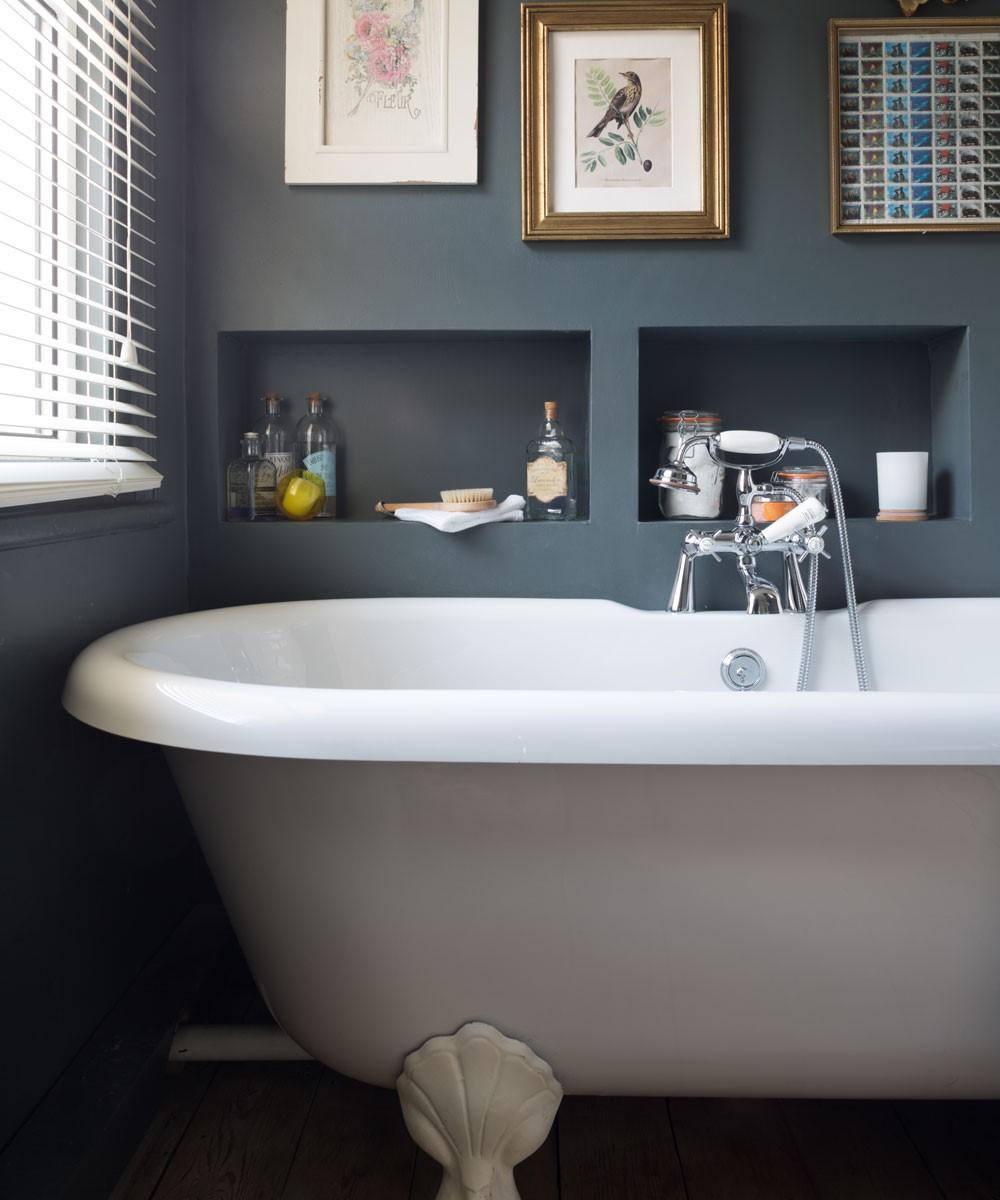 Badkamer met verzonken planken