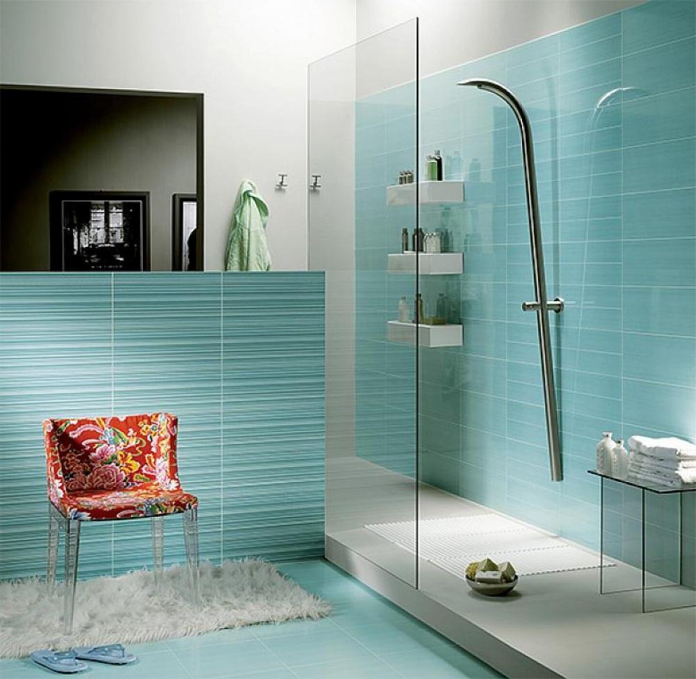 Creatieve kleur combinatie voor in de badkamer