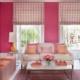 Diep roze gecomineerd met oranje voor in de woonkamer, inclusie leuke decoratie kussens