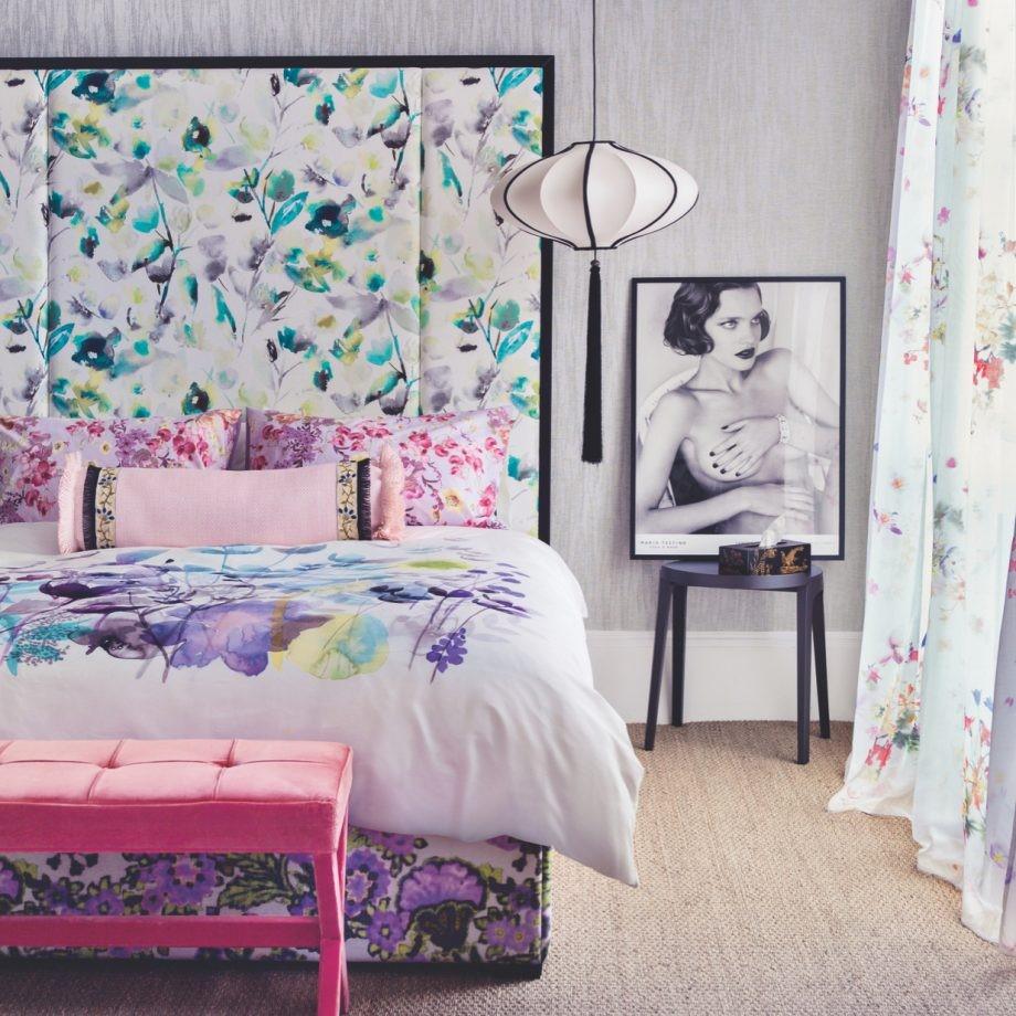 Fleurige slaapkamer zonder dat er ook maar echte bloemen in staan