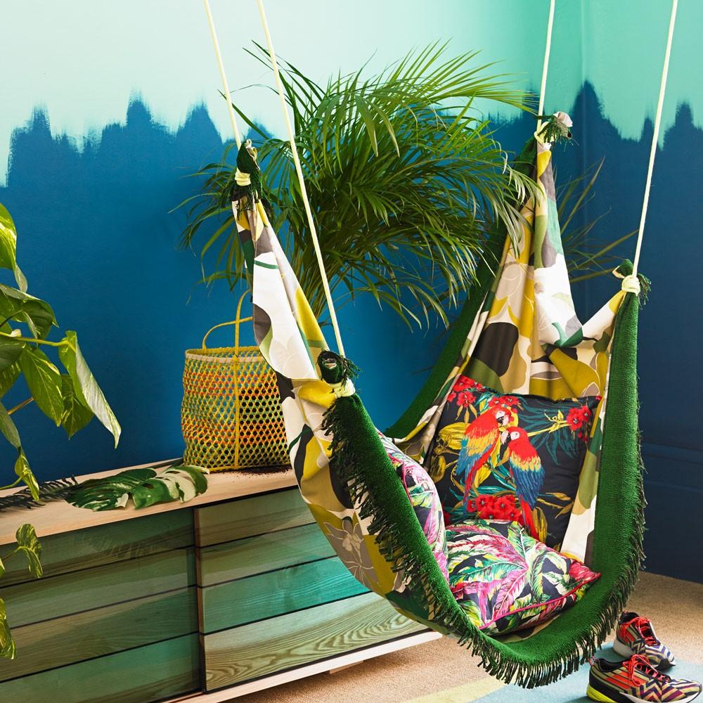 Jungle stijl slaapkamer, beetje overdreven maar wel mooi