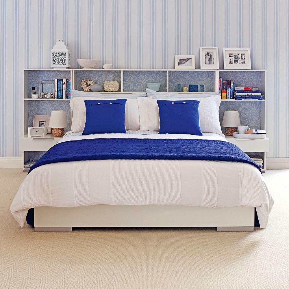 Leuke DIY slaapkamer hoofdsteun, maak simpelweg kastjes achter je best, 2 vliegen in 1 klap
