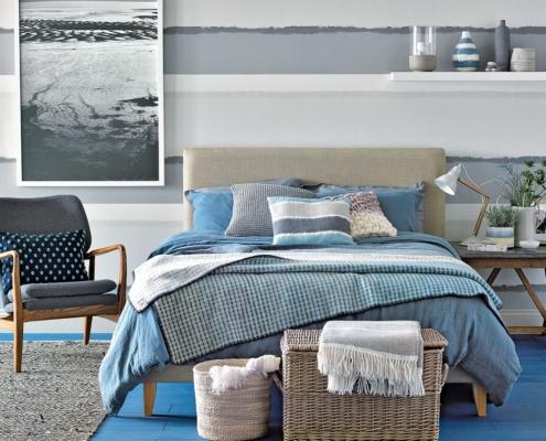Slaapkamer met strand gevoel om heerlijk tot rust te komen