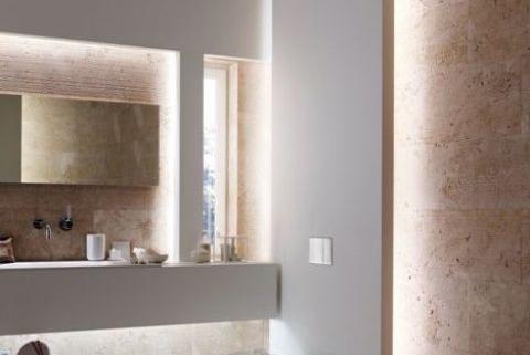 Verborgen badkamer verlichting