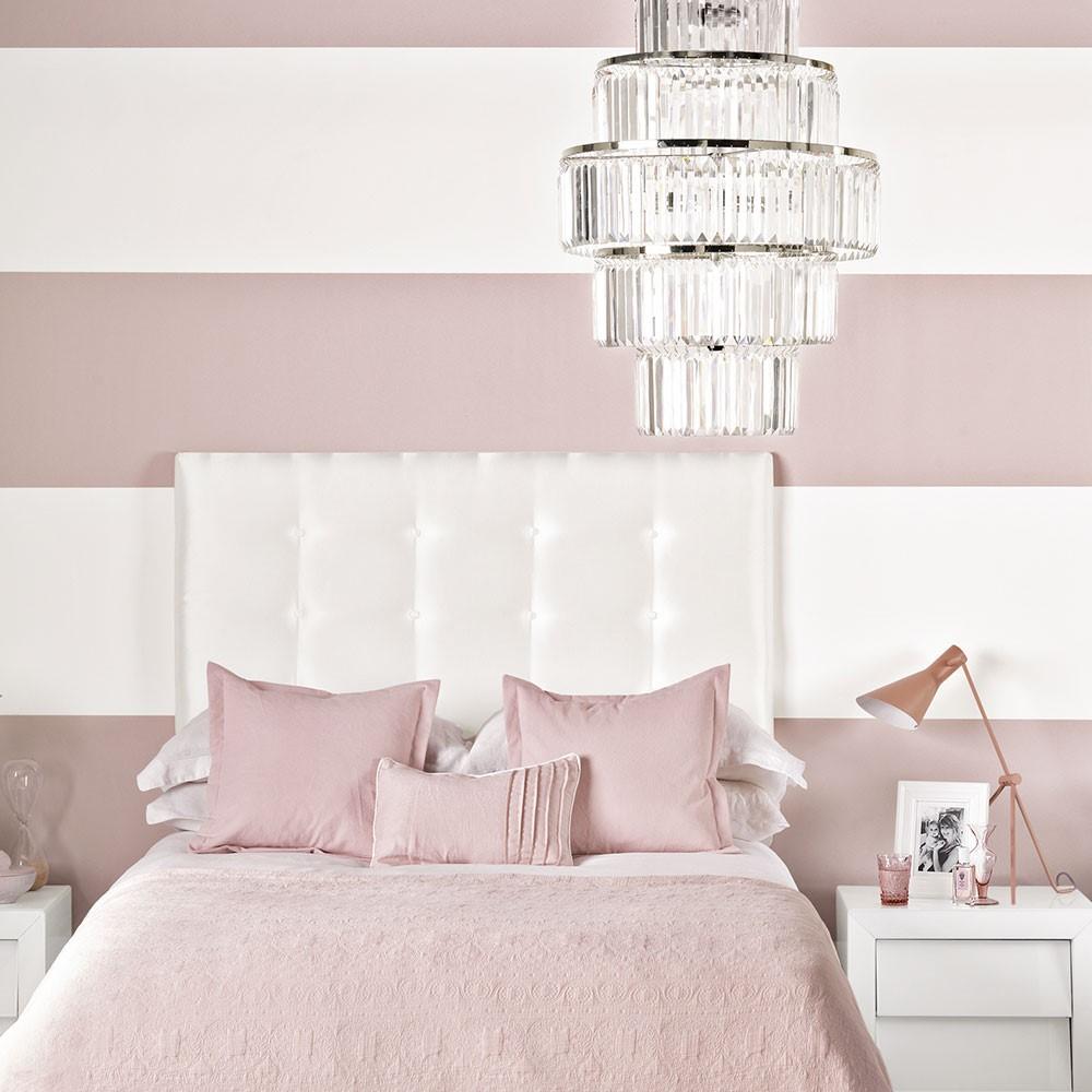 Zacht roze slaapkamer, een slaapkamer hoeft niet meisjes achtig te zijn als je roze gebruikt