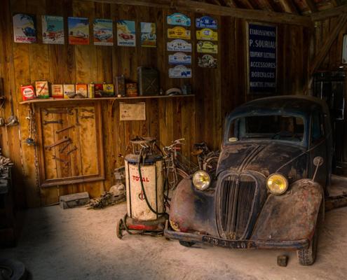 garage opruimen voertuigen